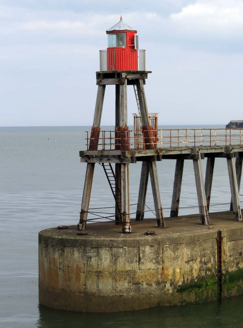 The light on the end of the eastern breakwater