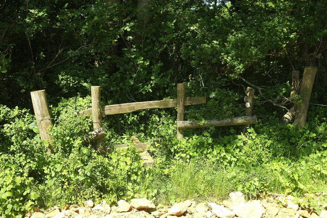Stile on the county boundary