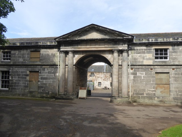 The entrance to the stables at Newhailes