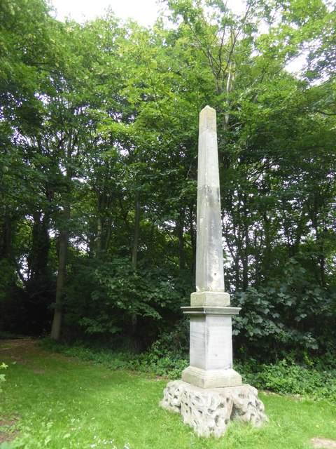 Monumental obelisk at Newhailes