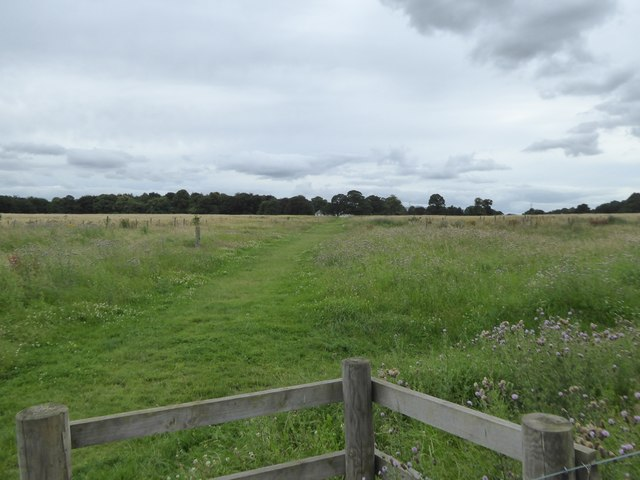 Path across the fields to Newhailes