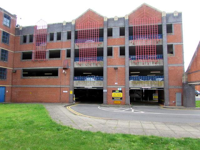 East side of St Martin's Gate multistorey car park, Worcester