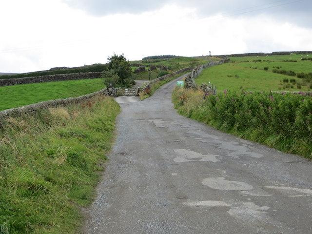 Back Lane, Stanbury near Bully Trees Farm
