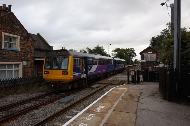 Hull bound train at Howden Station