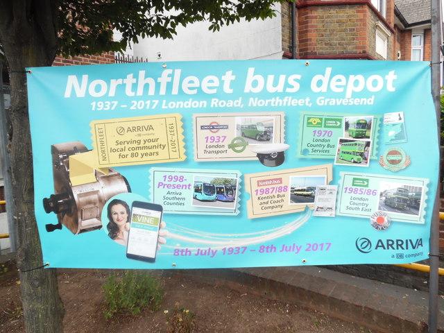 Poster at Northfleet Bus Depot