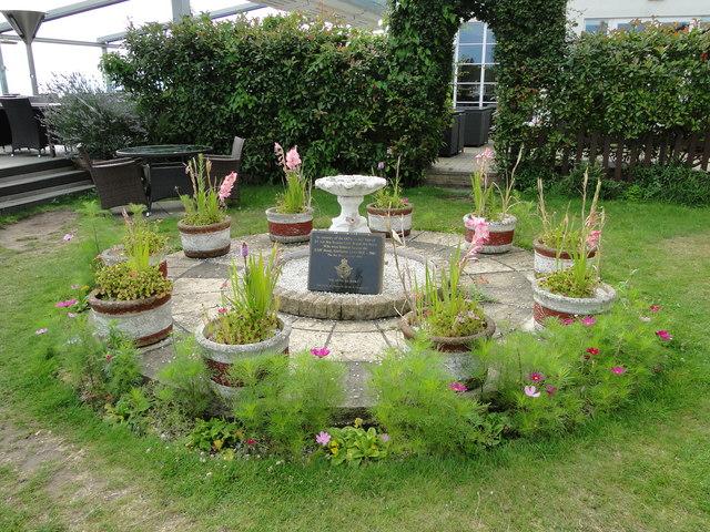 Memorial garden at the Cliff Hotel, Gorleston
