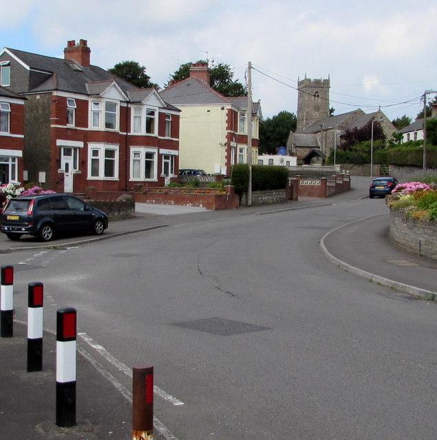 West along Church Road, Rumney, Cardiff