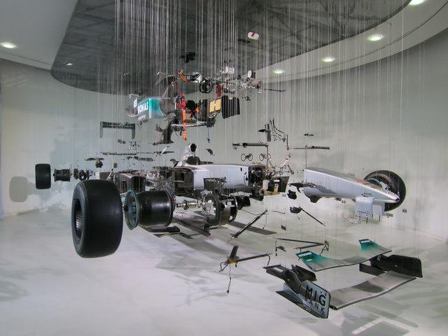 Exploded F1 car, Mercedes World