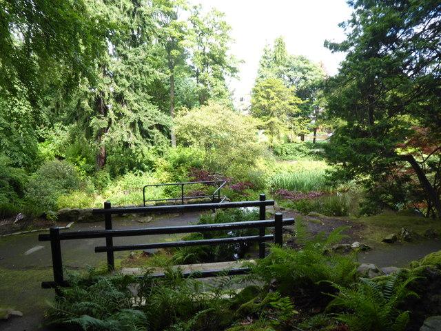 Footbridge and viewpoint, Johnston Gardens