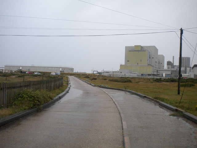 Road towards the power station, Dungeness