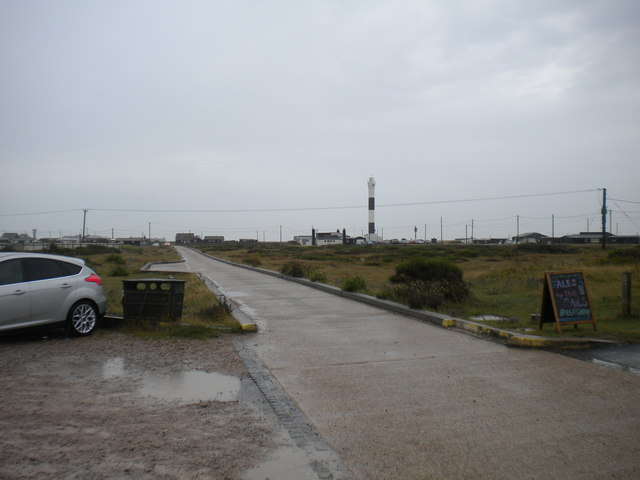 Concrete road across the shingle, Dungeness