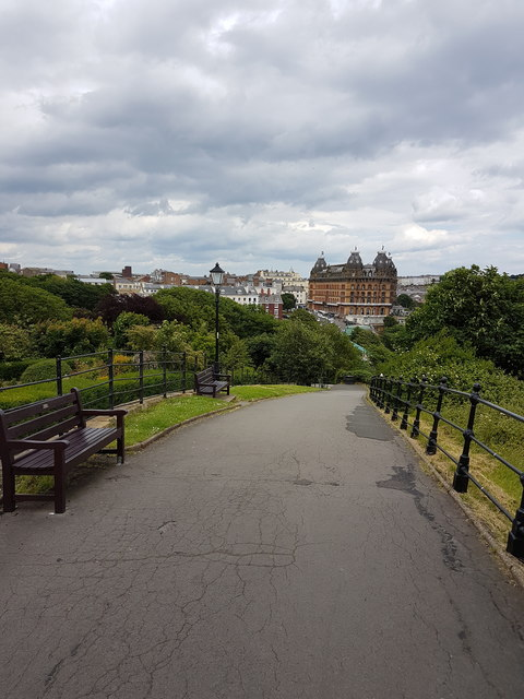 Looking towards The Grand Hotel, Scarborough