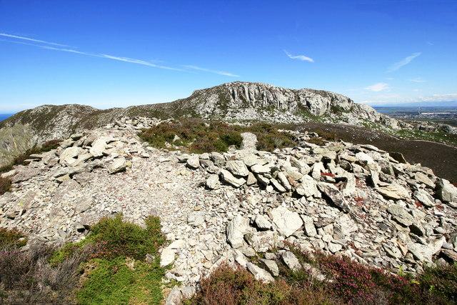 Circular stone structure near Holyhead Mountain