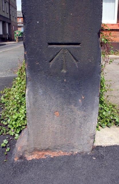 Benchmark on post in Hunter's Lane