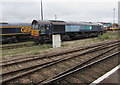 SU4519 : Freightliner diesel locomotive 66413 in Eastleigh by Jaggery