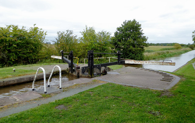 Baddiley No 3 Lock near Ravensmoor in Cheshire