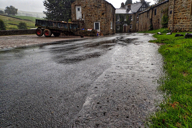 A wet morning in Lofthouse