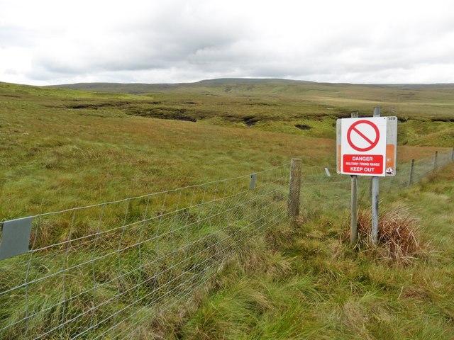 MOD warning sign on Warcop Estate