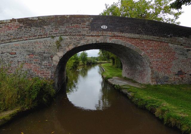 Greenfield Bridge west of Ravensmoor in Cheshire