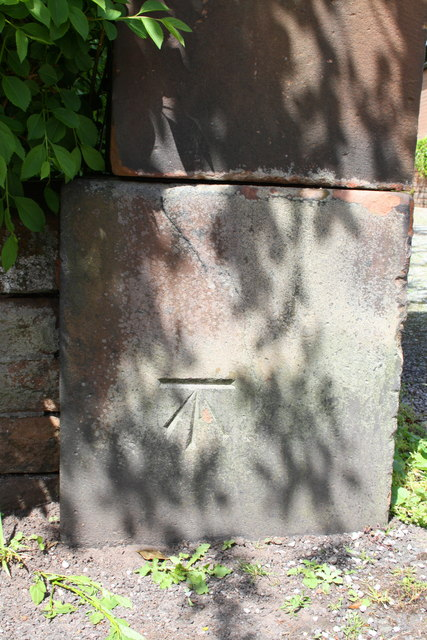 Benchmark on gatepost at entrance to #21 Arthur Street