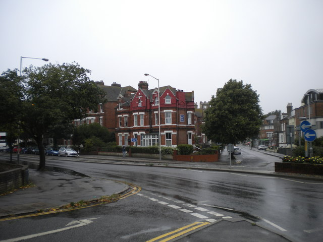 East end of Shorncliffe Road, Folkestone