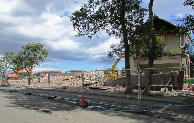 Demolition site, Anstruther