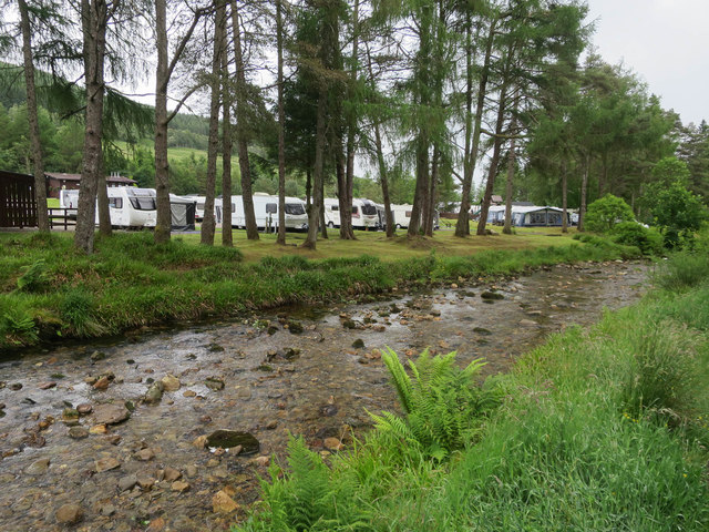 Crom Allt past Pine Trees Caravan Park