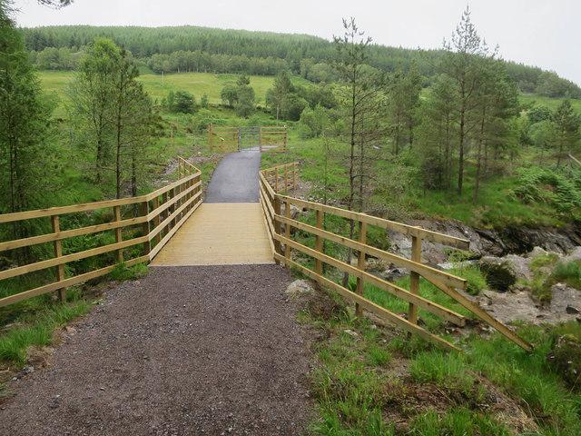 New bridge over Crom Allt