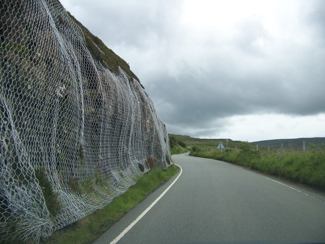 Leaving Uig on the A855