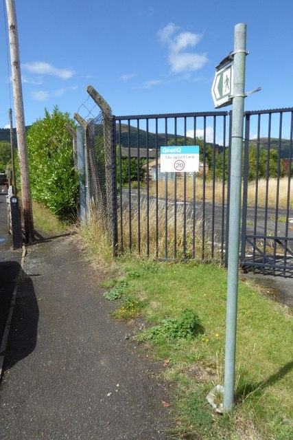 Footpath beside Malvern Technology Centre