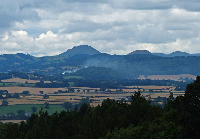 View southwest across Shropshire from the Wrekin