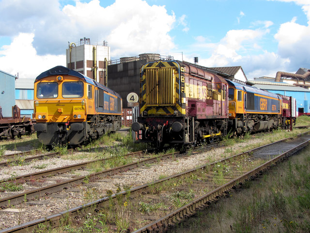 Locomotives at Celsa steelworks