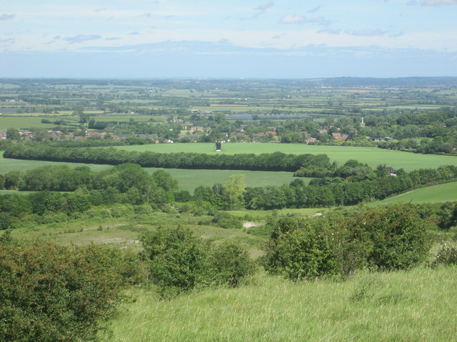 Ivinghoe village from Pitstone Hill