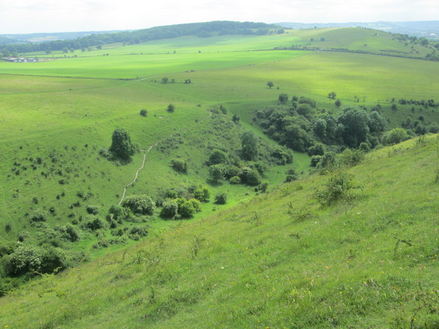 Looking down on Incombe Hole