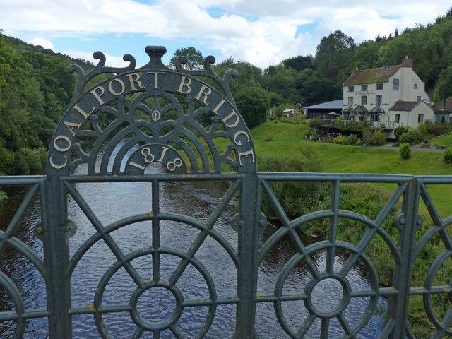 Coalport Bridge crossing the River Severn