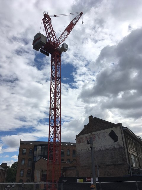 Crane on the site of a night club