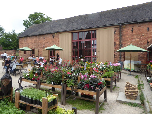 Calke Abbey - plant sales and restaurant seating