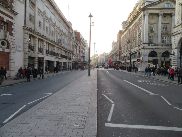 An empty Piccadilly