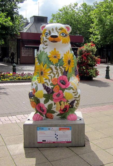 Birmingham Big Sleuth Flower Bear in Mell Square