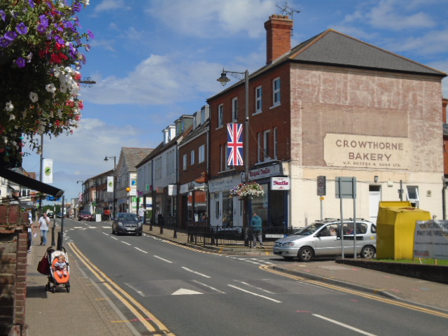 Crowthorne High Street, view from corner shop