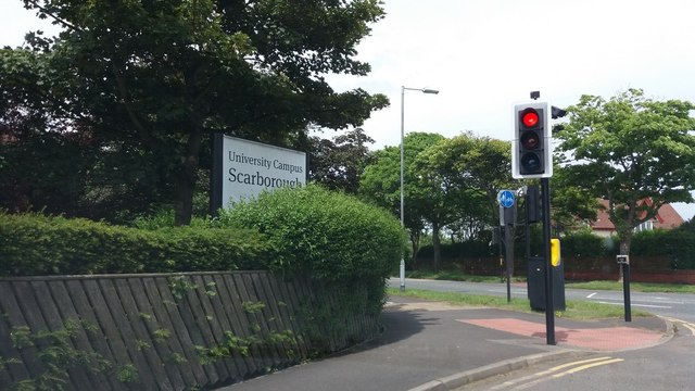 Sign outside Scarborough University