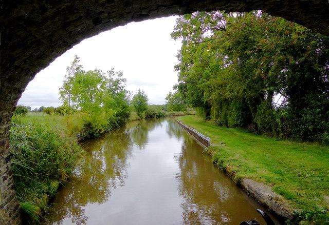 Llangollen Canal west of Ravensmoor in Cheshire