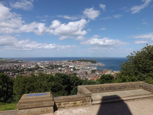 View across Scarborough from the memorial at Oliver's Mount