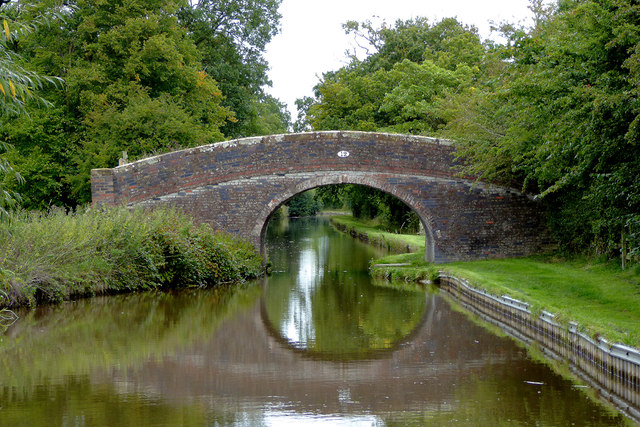 Halls Lane Bridge near Ravensmoor in Cheshire