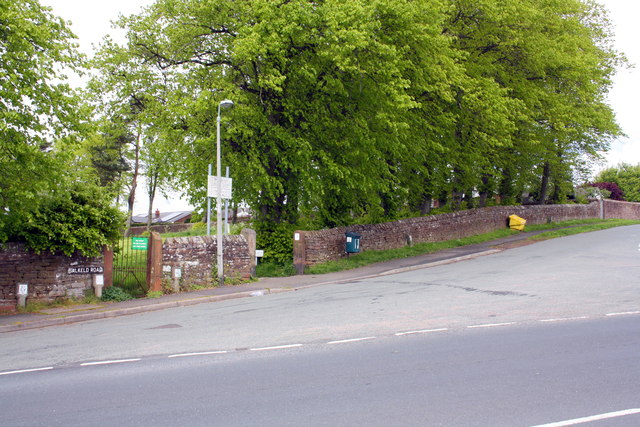 Entrance to Fair Hill playing field from Salkeld Road