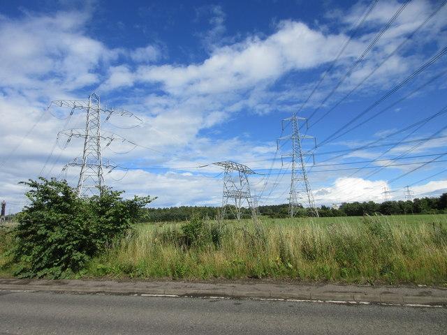 Multitude of pylons
