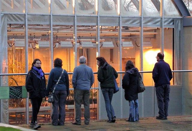 Visitors to the Millennium Seedbank at Wakehurst