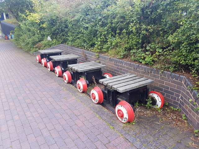 Old Pit Train Bench, Trent & Mersey Canal