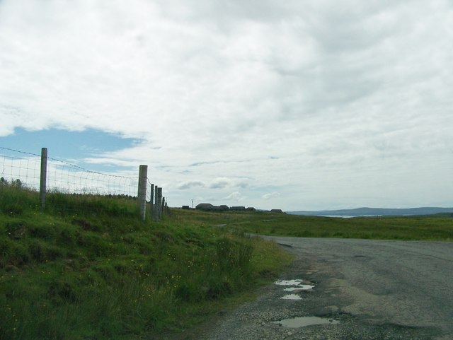 A855 approaching the Museum of Island Life from Duntulm