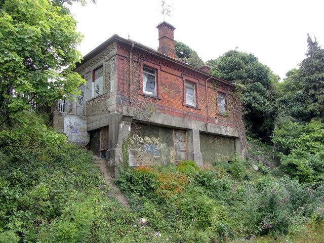Disused station building at Llandaff